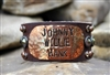 Johnny, Willie, Hank Genuine Leather Bracelet by Rowdy Cowgirl