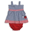 Ladybug Gingham Sundress and Bloomers Set