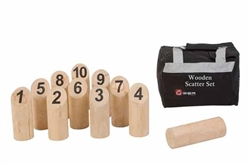 Wooden 10 pin Scatter Set