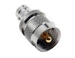 BNC Female Jack to UHF Male PL-259 Plug Adapter Nickel