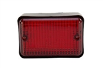 LED Oblong Fog Lamp Red Assembly