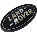 Supercharged Oval Badge - Black / Silver (For Use On REAR Of Vehicles) - Genuine Land Rover