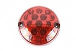 Round LED Fog light red (No plinth) 95mm