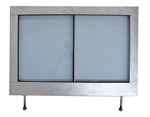 Glazed Galvanised Series 2 /3 2nd Row Door Top RH