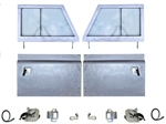 Galvanised Series 2 Front Door Kit (With Cappings)
