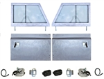 Galvanised Series 3 Front Door Kit (With Cappings) (ETA JULY)