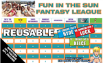 Reusable Fantasy Football Draft Board