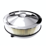Air Cleaner Assembly, Open Element, OE Style: Base, Chrome Lid, and Filter