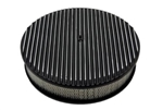 1967 - 1992 Camaro Air Cleaner Assembly, Round Open Element, BLACK ALUMINIUM FULL FINNED
