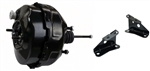 1967 - 1969 Camaro BLACK Powder Coated Power Brake Booster, 9 Inch, Dual Diaphragm