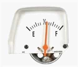 1968 1969 camaro console gauge  fuel  correct brushed