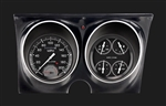 1967 - 1968 Dash Instrument Cluster Housing with Gauges (Autocross Series), Grey, Custom OE Style