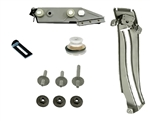 1967 - 1969 Camaro RH Quarter Window Glass Track, Roller, and Mounting Plate Kit