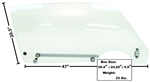 1970 - 1981 Camaro Door Window Glass Kit, Clear, RH Side