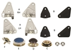 1968 - 1969 Camaro Door Window Glass Plates Installation Mount Kit