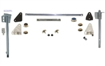 1968 - 1969 Camaro Complete Door Window Glass Installation Kit with Tracks, RH