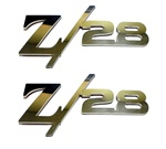 "1967 - 2014 Fender Emblems, ""Z/28"" Logo, Stainless Steel or Choice of Color, Peel and Stick, Pair"