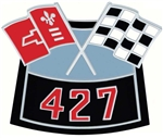 Air Cleaner Cross Flag Emblem, Die-Cast, 427