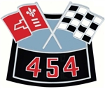 Air Cleaner Cross Flag Emblem, Die-Cast, 454