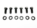 1967 - 1981 Camaro Engine Motor Mount Bolts Set, Block Side, 6 Bolts and 6 Lock Washers