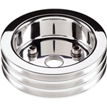 1967 - 1968 Camaro SBC Short Water Pump Billet Aluminum Crank Pulley for Small Block, 3 Groove