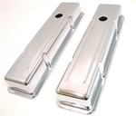 New Classic Style 1958 - 1986 GM Chevy Small Block Chrome Valve Covers great for your SB Camaro
