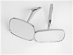 1968 - 1969 Camaro Exterior Door Mirrors Set, Clear Shot, Pair of LH and RH