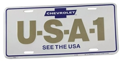 CHEVROLET USA-1 SEE THE USA License Plate