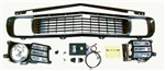 1969 Rally Sport Grille Kit Completely Assembled With Electric Motors Upgrade