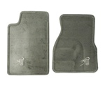 1993 - 1997 Floor Mats Set, Front, 30th Anniversary, Gray with Embroidered Bowtie