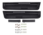 1972 - 1977 Camaro Lower Door Panel Plastic Section / Map Pockets, LH & RH Kit, Includes Arm Rest and Complete Hardware Set