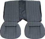 1982 - 1985 Camaro Standard Vinyl with Millport Cloth Insert Rear Seat Cover Upholstery Set