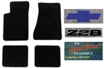 1991 1990 Carpeted Floor Mats Set with Custom Embroidered Logos & Custom Colors