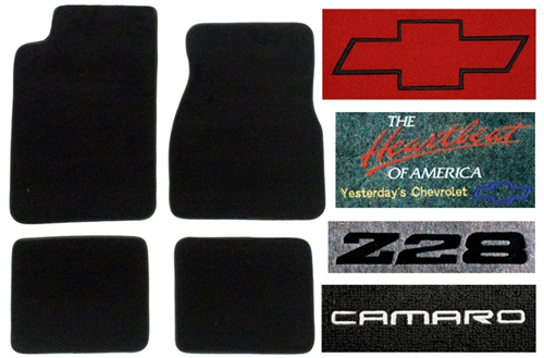 Camaro Floor Mats Drivers side in black with Camaro SS embroidered logo