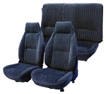 1982 - 1985 Seat Covers Set (Replacement Upholstery), Front and Rear, Solid Rear, All Encore Velour, Choice of Color