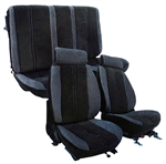 1985 - 1987 Seat Covers Set (Replacement Upholstery), Front and Rear, Solid Rear, Encore Velour and Madrid Velour, Choice of Colors