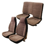 1987 - 1992 Seat Covers Set (Replacement Upholstery), Front and Rear, Split Rear, Encore Velour with Regal Velour Inserts, Choice of Colors