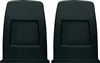 1971 - 1977 Camaro Front Bucket Seat Back Panels, BLACK, Pair