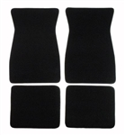 1967 - 1969 Camaro Floor Mat Set Carpeted Black, Cut Pile