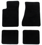 1982-1992 Floor Mats Set Carpeted Black