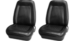 1967 - 1968 Front Bucket Seat Assemblies Set, Standard, Colors, Pre-Assembled, Headrests Not Included, Pair