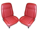 1969 Front Bucket Seat Assemblies Set, Deluxe, Comfortweave, Pre-Assembled, Headrests Not Included, Pair