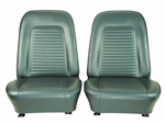 1969 Front Bucket Seat Assemblies Set, Standard, Colors, Pre-Assembled, Headrests Not Included, Pair