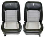 1968 Complete Deluxe Interior Houndstooth Bucket Seat Set - Pair