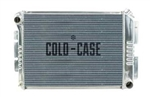 1967 - 1969 Aluminum Radiator, 2 Row, Small Block, Manual