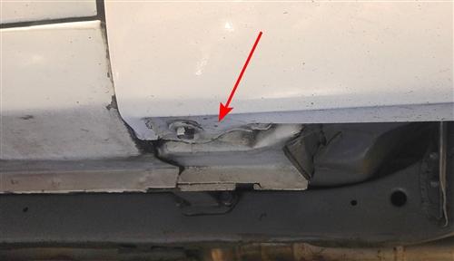 1967 1969 Camaro Lower Door Jamb Hinge Patch Panel