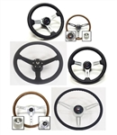 NEW Custom Steering Wheel Kits with Many Horn Cap Choices, ChooseEmblem for your Camaro, Firebird, Impala, Chevelle, Buick, Oldsmobile, Pontiac, GMC, Chevy Truck, Cadillac or GTO
