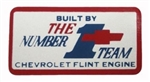 1967 - 1970 Camaro Valve Cover Decal, Small Block Built By the Number 1 Team Flint Michigan