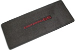 Trunk Deck Welcome Mat - CAMARO SS - Black w/ Red Lettering