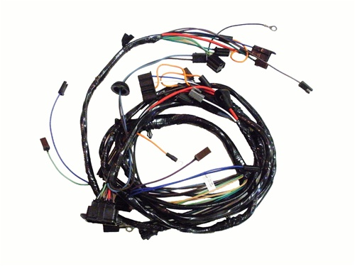 1967 front light wiring harness  v8 with factory gauges